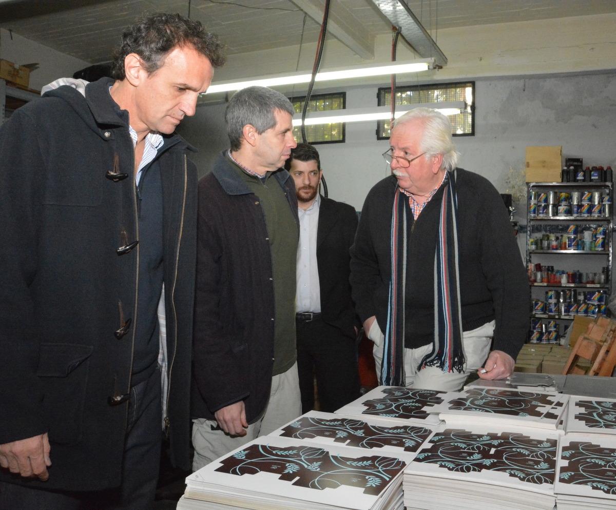 Katopodis junto a los empresarios en su visita a Le Marc